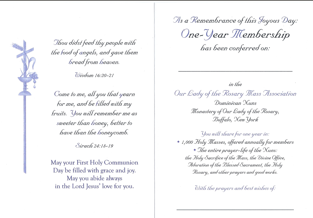 First Communion To Jesus Card